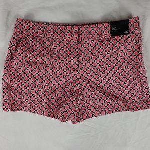 NWT NY&C New York & Company Pink Black Shorts 10